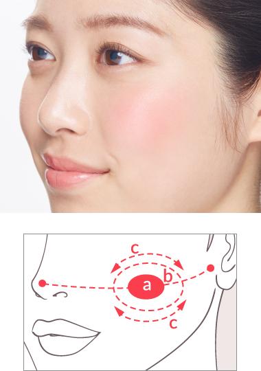 健康的な肌を演出するチークのポイント