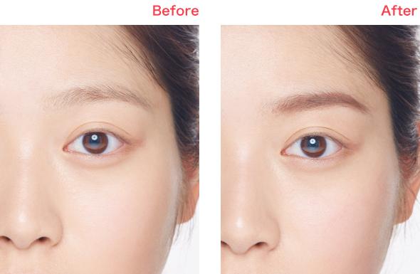 眉を整えると、顔のバランスも整う!